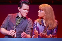 Me on stage for Jersey Boys, London West End